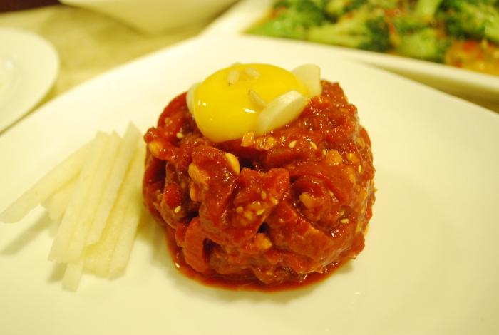 朝鲜式生拌牛肉