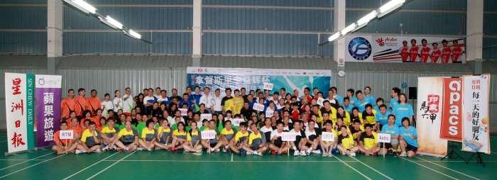 李益辉杯中文媒体羽球团体赛 12队劳动节以羽会友