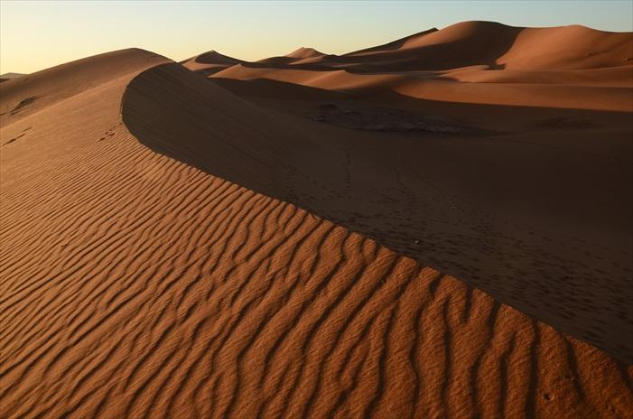 Chagaga沙漠的颜色比较淡,纯沙丘的部分不集中,所以没有浩瀚无边的沙丘,但是这里的地形和生长的植物,别有一番特色。