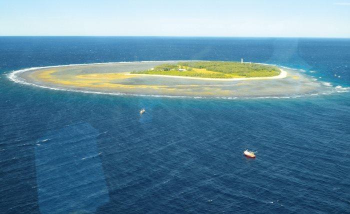 小记这次的目的地—伊莉特夫人岛(Lady Elliot Island)是大堡礁区内最南的一座小岛。