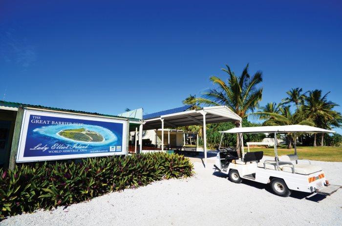 伊莉特夫人岛上只有一家酒店。