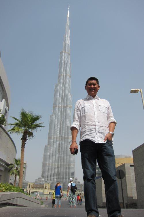 摄于杜拜哈利法塔。
