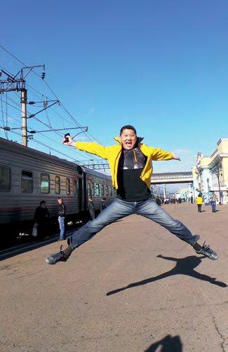 李桑去年领航完成西伯利亚铁路之旅。