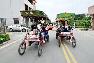 田尾公路花园是台湾最大的花卉盆栽集散地,若有时间不妨租单车到附近去赏花逛逛,怕累的话也可选择电动四轮车。