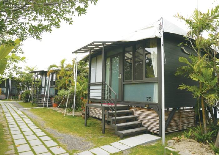 日出Villa充分展现了热带海岛风格的新形态小屋,非常特别!