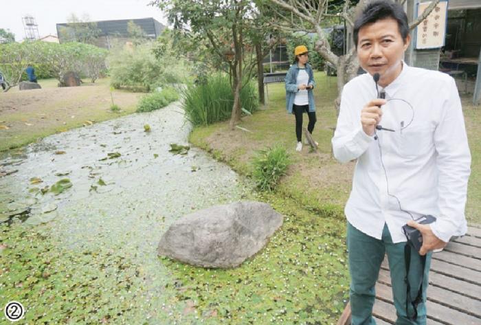 模拟高屏溪打造的自然沟渠,内有生态丰富的鱼蛙、昆虫及水生植物,是亲子互动学习的最佳环境。