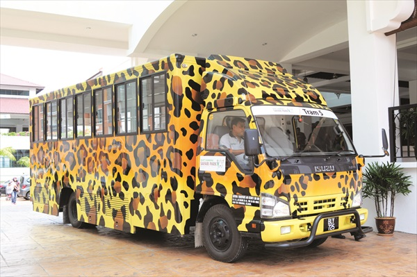 甘孟山城的专属卡车,可爱吧!