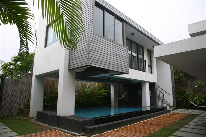 每栋Villa的建筑不一,让人充满期待。