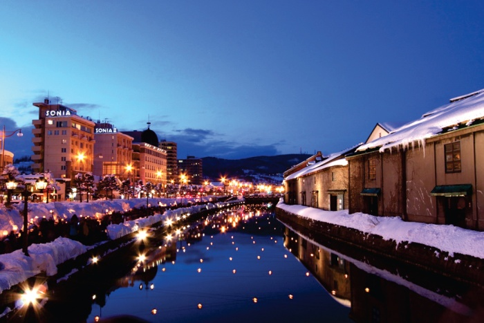 北海道小樽运河の冬