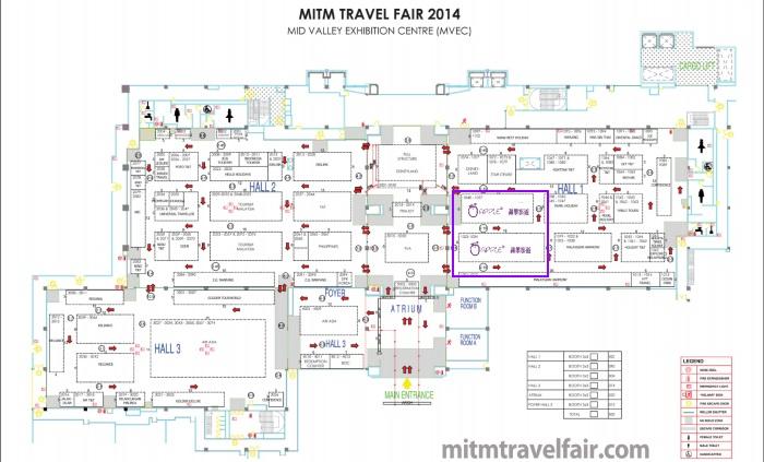 蘋果旅遊于2014年MITM展摊位置图