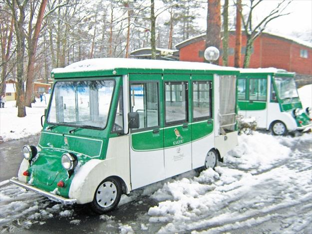 轻井泽王子饭店的接送专车,很有19世纪欧洲的古老风格,非常可爱。