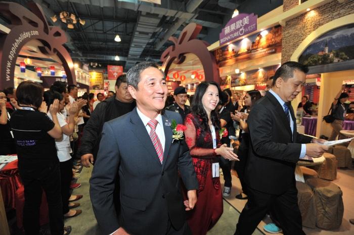 旅游部秘书长拿督黄宏炳今天也特地莅临会场。