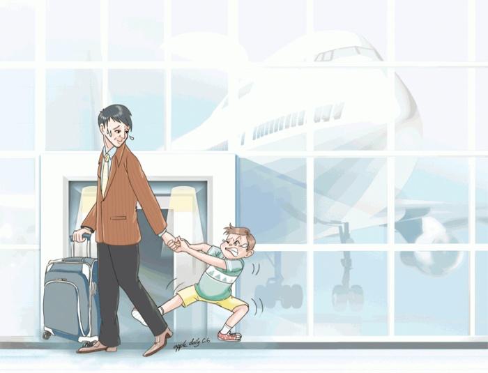 空难新闻不绝 小孩突失常(转载自《蘋果日報》)