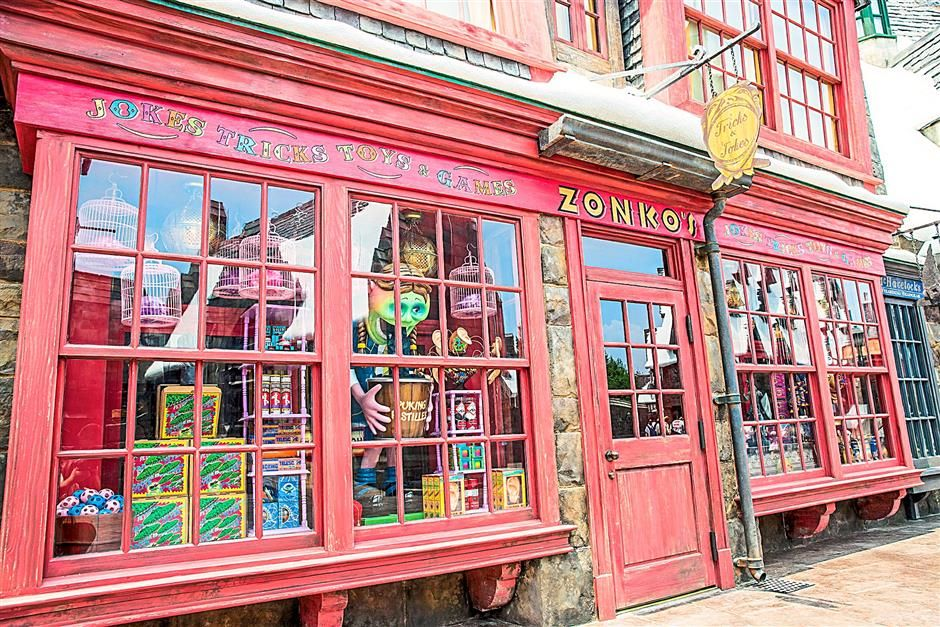 Novelty items: Zonko's Joke Shop in Hogsmeade carries a host of unusual tricks and other things.