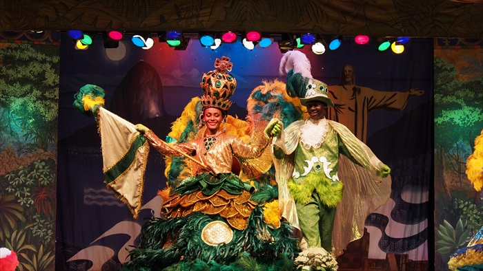 桑巴和民族风俗表演。
