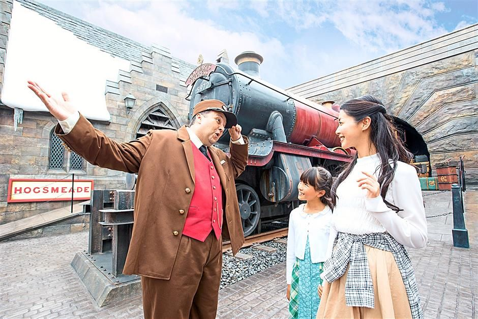 The Hogwarts Express has arrived at Hogsmeade's Platform Nine And Three-Quarters. — Photos from Universal Studios Japan.