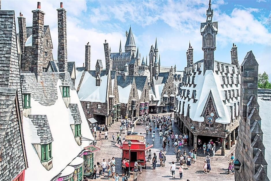Walking into the recreated Hogsmeade Village is like being thrust into the magical world of Harry Potter itself.