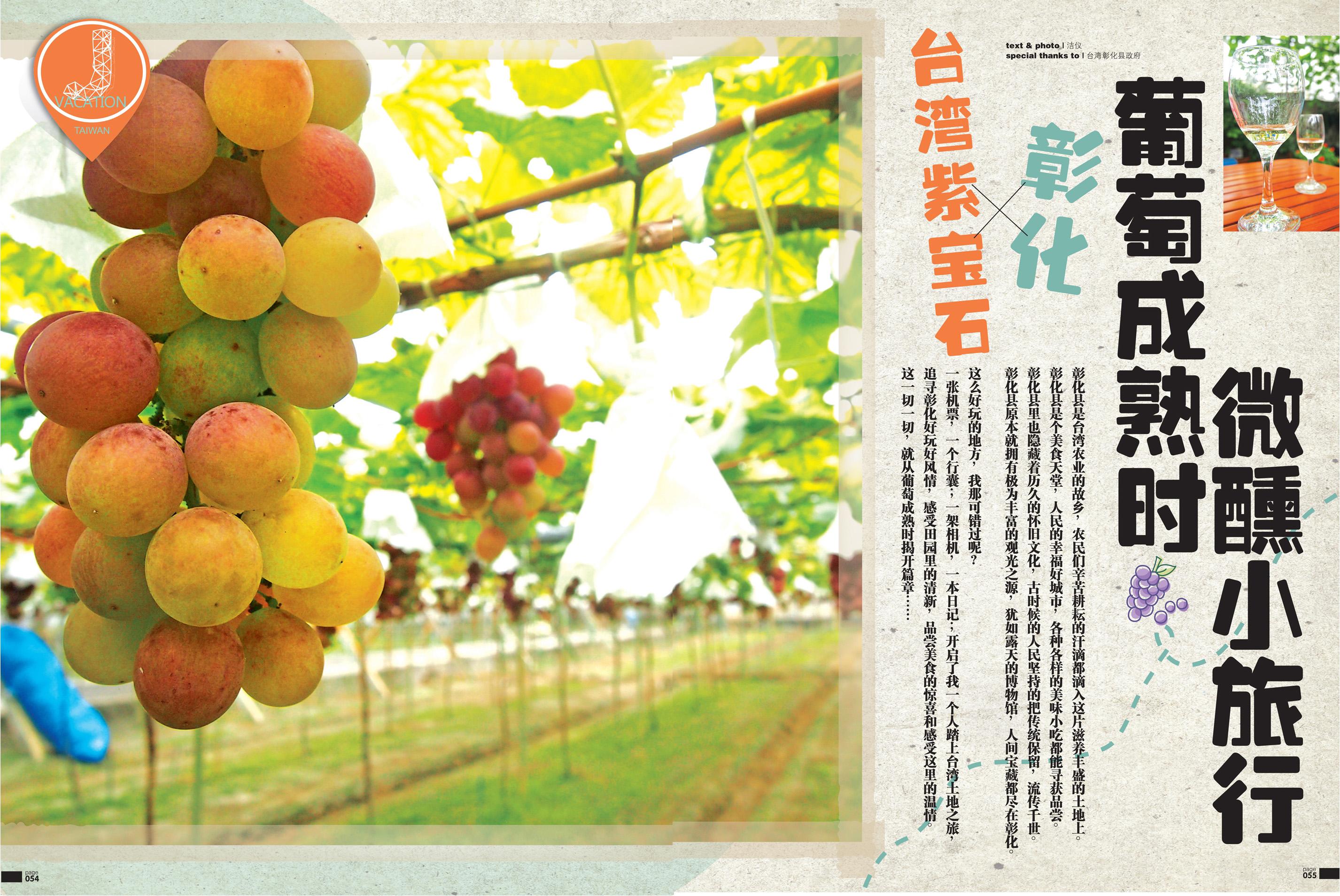 葡萄成熟时微醺小旅行 ‧ 台湾紫宝石——彰化(一)