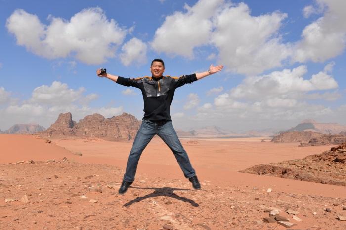 Lee-san in Petra