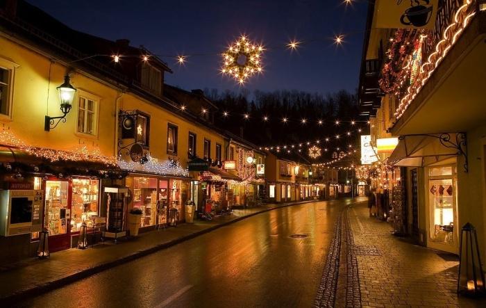 每处都充满浪漫的圣诞街景...