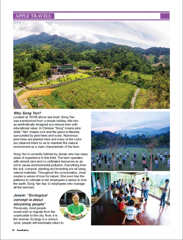 "Say ""Hi"" to Song Yan Eco-leisure Village, pg 78"
