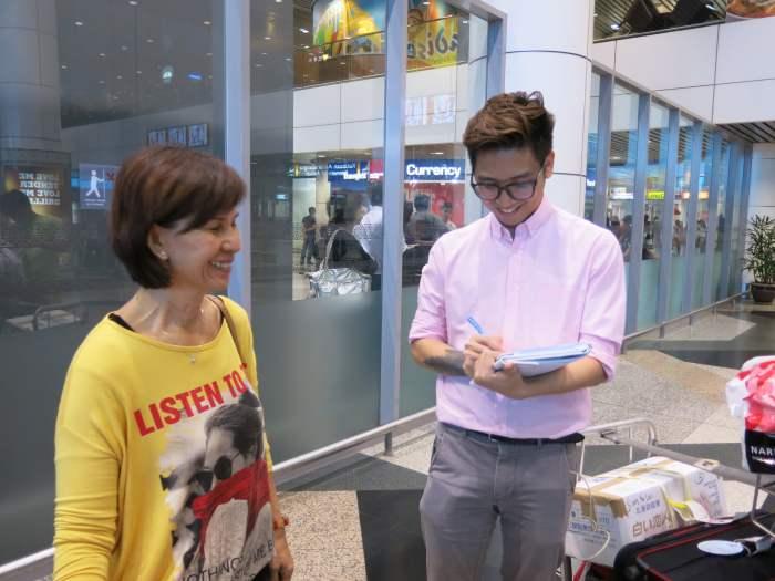 蘋果101记者也亲身现场访问几位蘋果游客。