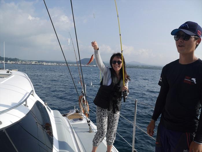 大家也可以尝试垂钓,和济州的海洋生物见见面。