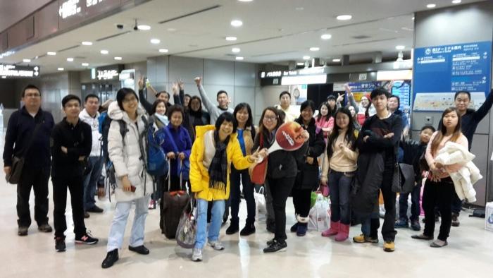 避开寒冷的旭川机场,来到温暖的成田机场。